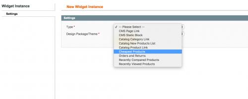 Magento Create Widget