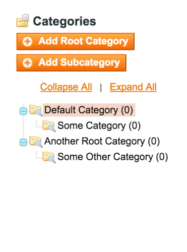 Magento Category Structure