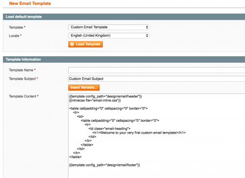 Add a Custom Email Template in Magento