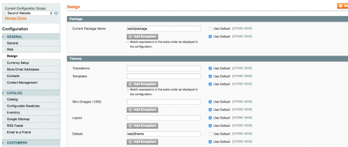 Setting up Magento Multiple Sites via cPanel