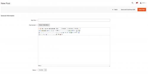 Magento 2 Admin Form