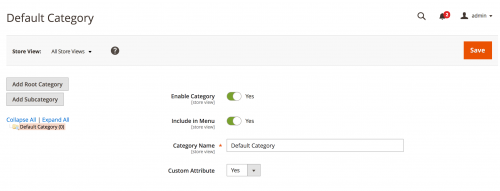 Add Category Attributes in Magento 2