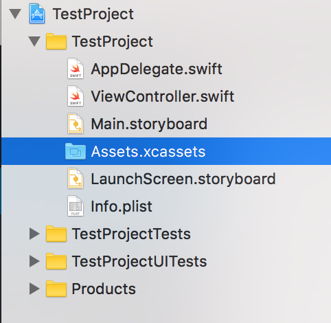 Add Swift Assets in Xcode