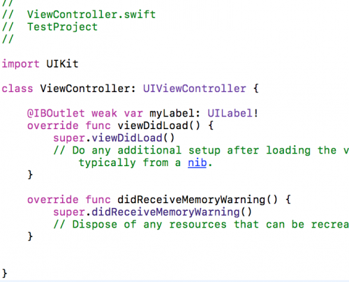 IBOutlets in Swift