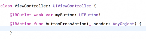 IBActions in Swift