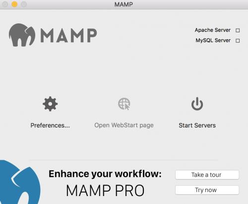 Website Setup with MAMP 4