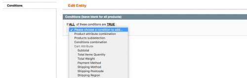 Add a Conditions Tab to a Magento Form