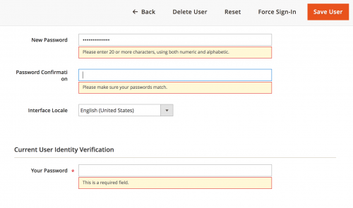 Change Admin User Password Validation in Magento 2