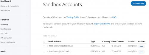 Testing PayPal Express Sandbox in Magento