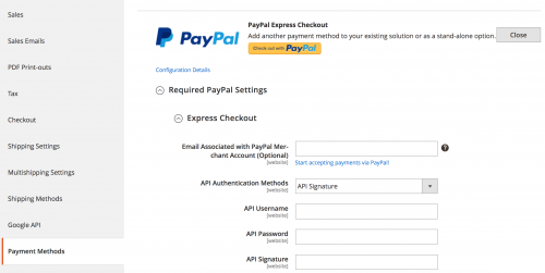 Testing PayPal Express Sandbox Orders in Magento 2