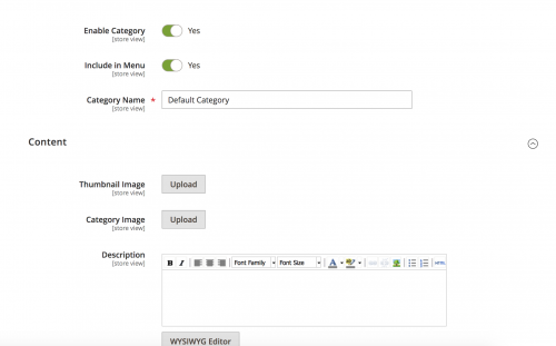 Add Category Thumbnail Images in Magento 2