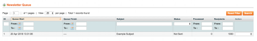 Removing the Newsletter Queue in Magento